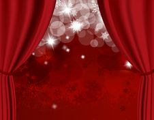Free Christmas Red Background Royalty Free Stock Photography - 17796347