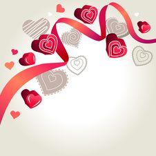 Free Hearts On Light Grey Background Stock Photos - 17797043