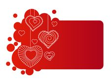 Free Hearts On Red Frame Stock Photo - 17797090