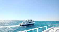 Free On A Board Of White Luxury Yacht Royalty Free Stock Images - 17797409