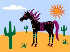 Free Funky Horse In The Desert Royalty Free Stock Photos - 17797428