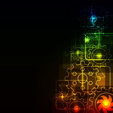 Free Glowing Abstract Background Royalty Free Stock Photography - 17797667