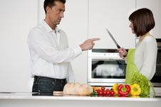 Free Conflict In The Kitchen Stock Images - 17797694