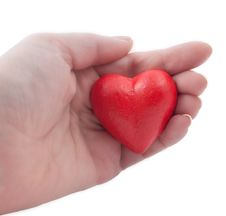 Free Red Heart In My Hand Stock Image - 17797781