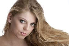 Free Intense Close Up Of Pretty Teenage Girl Stock Photo - 17797910