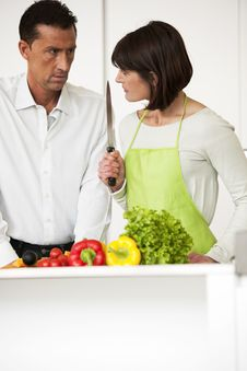 Free Conflict In The Kitchen Stock Images - 17798274