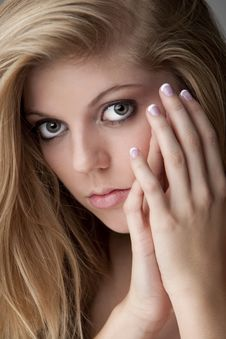 Free Close Up Of Teenage Girl With A Manicure Royalty Free Stock Images - 17798309