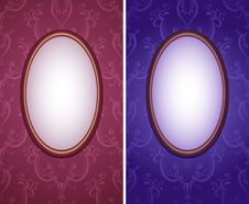 Free Wallpapers With Oval Frame Vertical Royalty Free Stock Images - 17798909