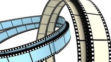 Two 3d Blank Films Ring Stock Photo
