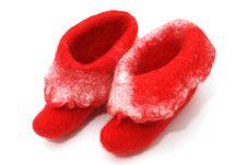 Free Red Santa Boots Royalty Free Stock Image - 17799376