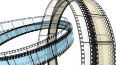 Two 3d Blank Films Ring Stock Images