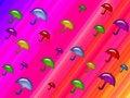 Free Rainbow Umbrella Shower Royalty Free Stock Photos - 1781788