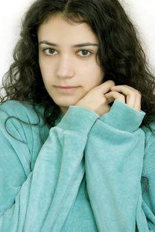 Girl In Pajamas Stock Image