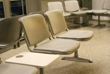 Airport Terminal Seats Stock Image