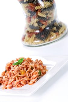 Screw Noodle Dish 4 Stock Photography