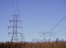 Field Of Power Royalty Free Stock Photos