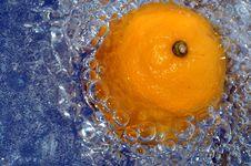 Free Orange Splashing Water Royalty Free Stock Image - 1781236