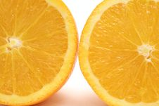 Free Orange Half Upclose Stock Image - 1781951