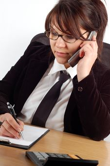 Free Businesswoman At Desk 12 Stock Image - 1783991