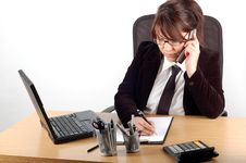 Free Businesswoman At Desk 12 Stock Photography - 1784162