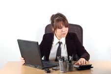 Free Businesswoman At Desk 12 Royalty Free Stock Photo - 1784185