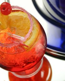 Cold Drink Decorated Sugar Stock Images