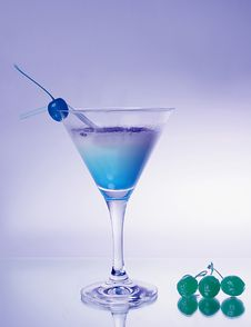 Cold Blue Drink Stock Photo