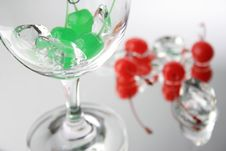 Free Green And Red Cherries Stock Photo - 1784400