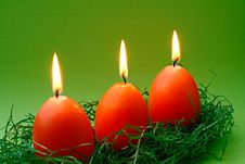 Free Egg Candles2 Royalty Free Stock Photos - 1784688