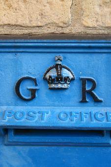Free Vintage Blue English Post Box Royalty Free Stock Images - 1784709