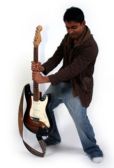 Free Man And A Guitar Stock Photo - 1785760