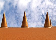 Cones Royalty Free Stock Photos
