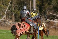 Jousting Knights Stock Images