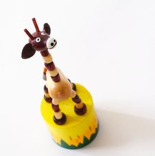 Toy Giraffe Royalty Free Stock Images