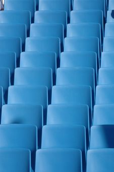 Free Blue Chairs Stock Image - 1787321