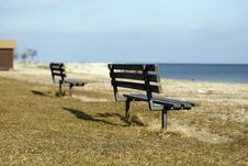 Free Benches On A Beach Royalty Free Stock Images - 1787329