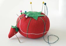 Pincushion  With Pins Royalty Free Stock Images
