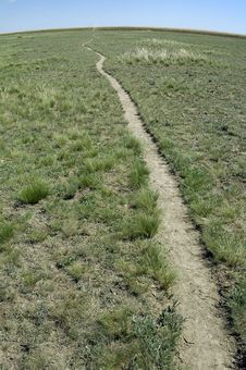 Free A Path In Steppe Leaving Over-the-horizon Stock Photography - 1788082
