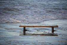 Free Bench Worth In The Sea Stock Image - 1789151