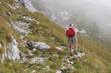 Free Older Man Walking Uphill Royalty Free Stock Photo - 1789595