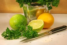 Free Parsley And Citris Fruit Royalty Free Stock Image - 1789606