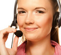 Free Friendly Secretary/telephone Operator Stock Image - 17801131