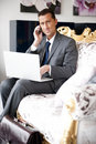 Free Businessman On A Vintage Sofa Stock Photo - 17804940