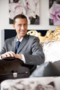 Free Businessman On A Vintage Sofa Royalty Free Stock Photo - 17805425