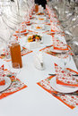 Free Catering Table Set Royalty Free Stock Photo - 17805835