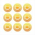 Free Orange Monitor Signs Stock Photos - 17806133