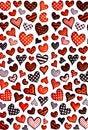 Free Colorful Heart Shape Isolated On White Background Stock Image - 17806391