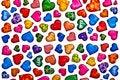 Free Colorful Heart Shape Isolated On White Background Stock Image - 17806451