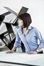 Free Female Architect Or Enginneer Stock Photography - 17808762