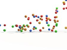 Free Coloured Balls Afoot Royalty Free Stock Image - 17801006
